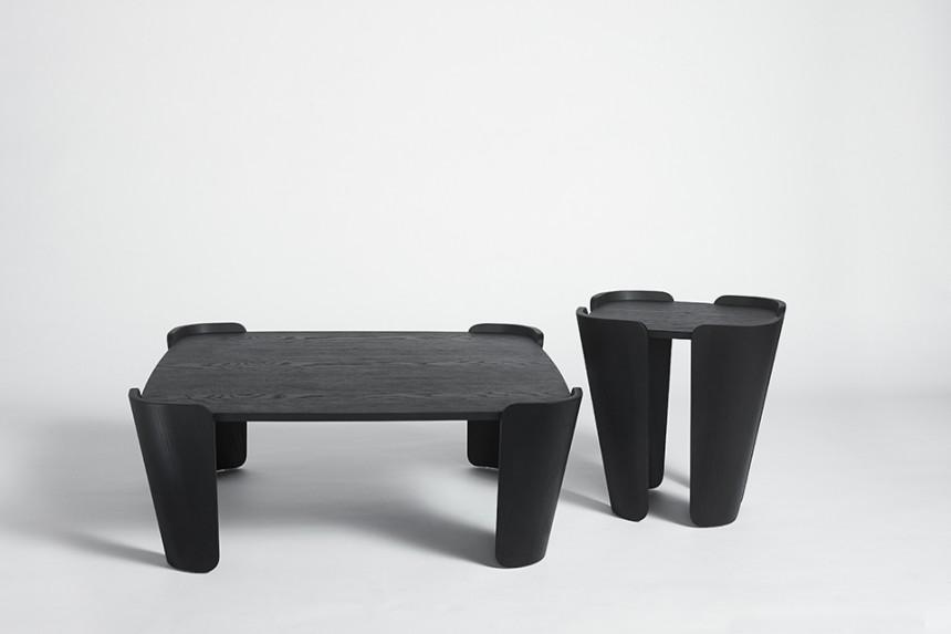 Tulipa Coffee Table black