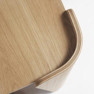 Tulipa Stool Walnut Veneer 100% Wool Upholstery