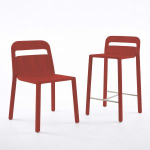 go home Hollywood red chair and stool