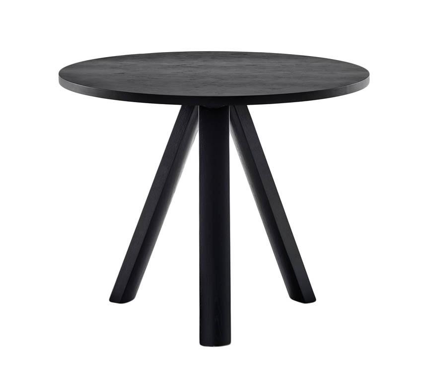 Plateau Table 900mm Round Black Finish Gohome Gohome