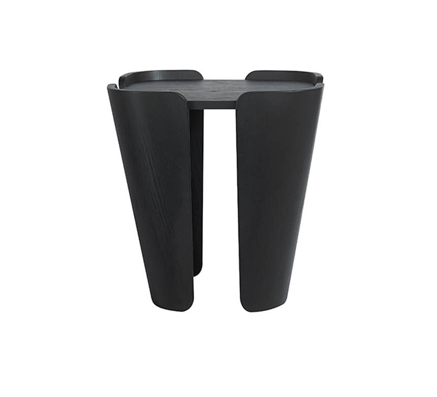 Tulipa Side Table Black