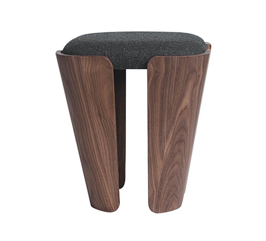 Tulipa stool Musk Stain walnut Upholstery