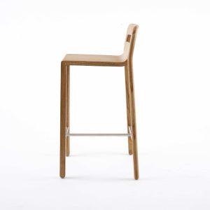 go home go home Hollywood bar stool natural wood