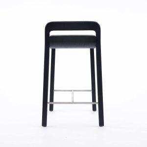 go home Hollywood bar stool black