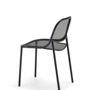 Grille Outdoors/In Chair – Matt Black