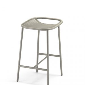 Grille Outdoors/In (650mm Seat Height) Counter Stool – Stone Grey angle