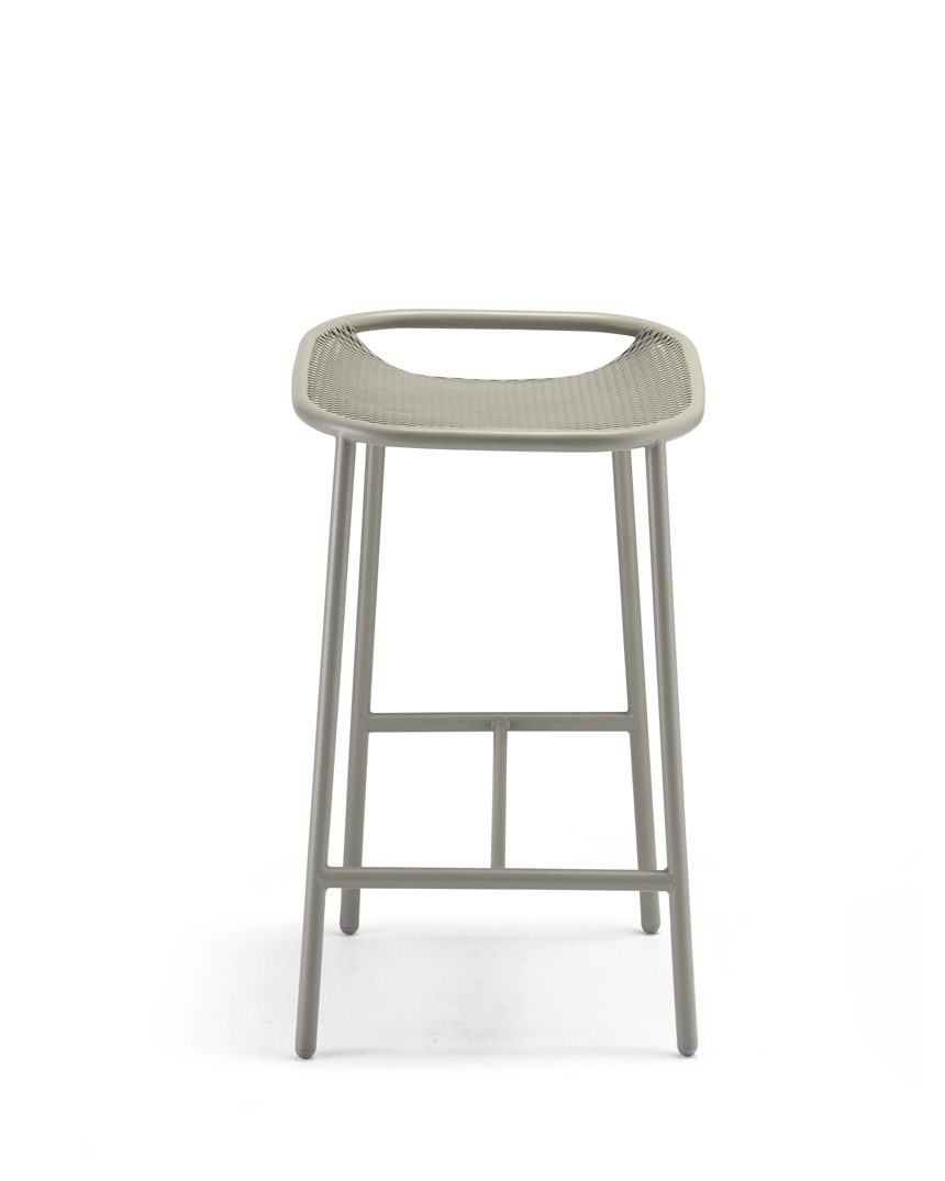 Grille Outdoors/In (650mm Seat Height) Counter Stool - Stone Grey front