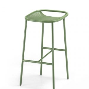 Grille Outdoors/In (750mm Seat Height) Bar Stool – Reseda Green angle