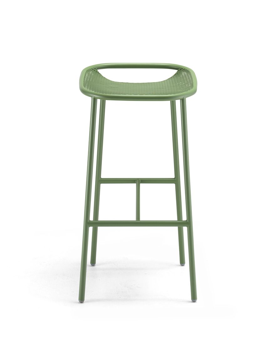 Grille Outdoors/In (750mm Seat Height) Bar Stool - Reseda Green main