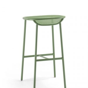 Grille Outdoors/In (750mm Seat Height) Bar Stool – Reseda Green behind