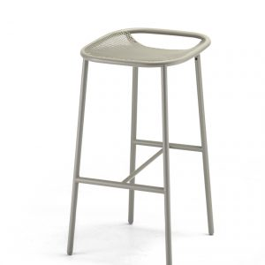 Grille Outdoors/In (750mm Seat Height) Bar Stool – Stone Grey angle