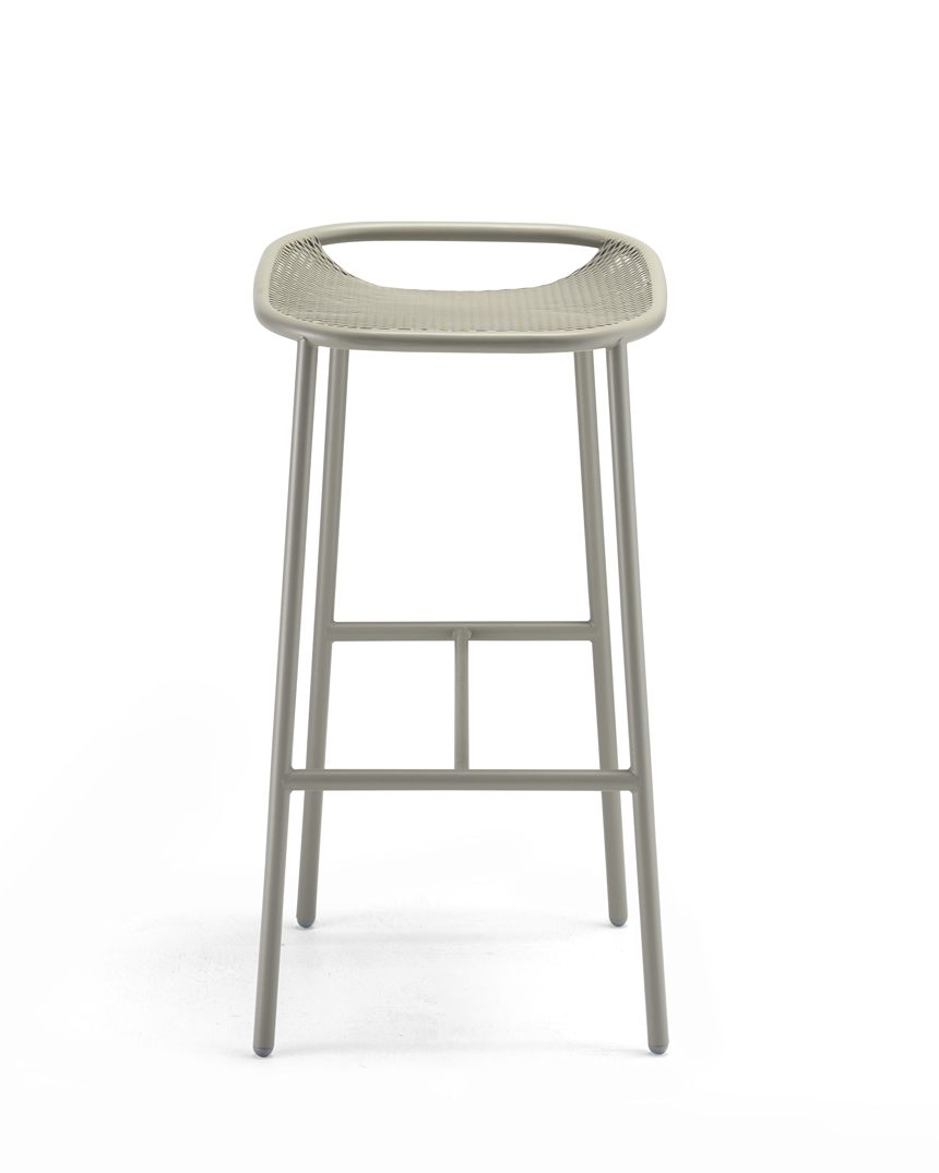 Grille Outdoors/In (750mm Seat Height) Bar Stool - Stone Grey front