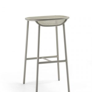 Grille Outdoors/In (750mm Seat Height) Bar Stool – Stone Grey behind