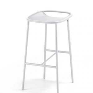 Grille Outdoors/In (750mm Seat Height) Bar Stool – Matt White angle