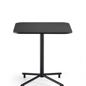 Grille Outdoors/In Star Base Table with 700 x 700mm Square Table top – Matt Black first