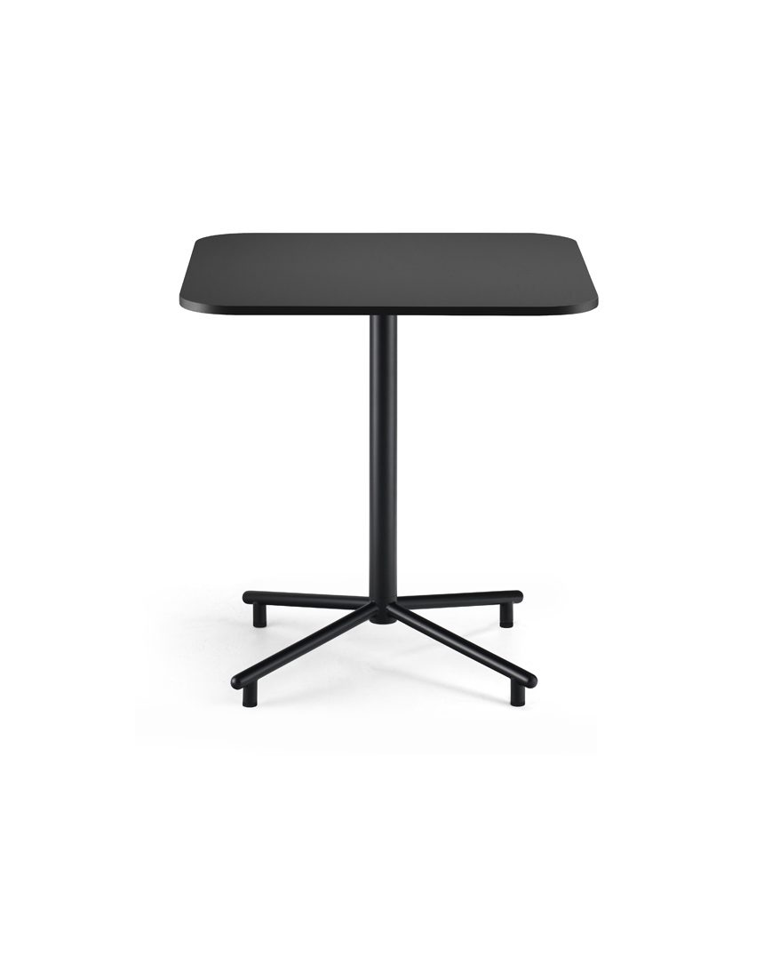 Grille Outdoors/In Star Base Table with 700 x 700mm Square Table top - Matt Black second