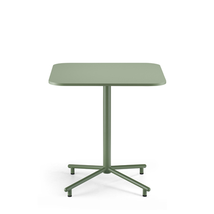 Grille Outdoors/In Star Base Table with 700 x 700mm Square Table top Reseda Green