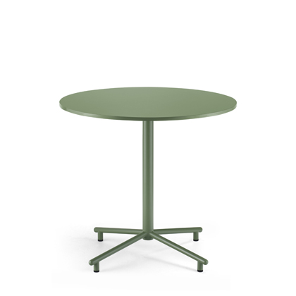 Grille Outdoors/In Star Base Table with 800mm Round Table top Reseda Green