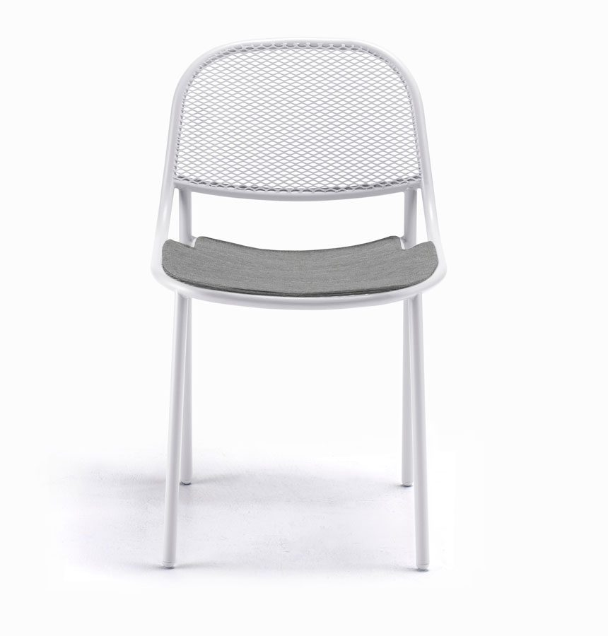 Grille Outdoors/In Chair - Matt White