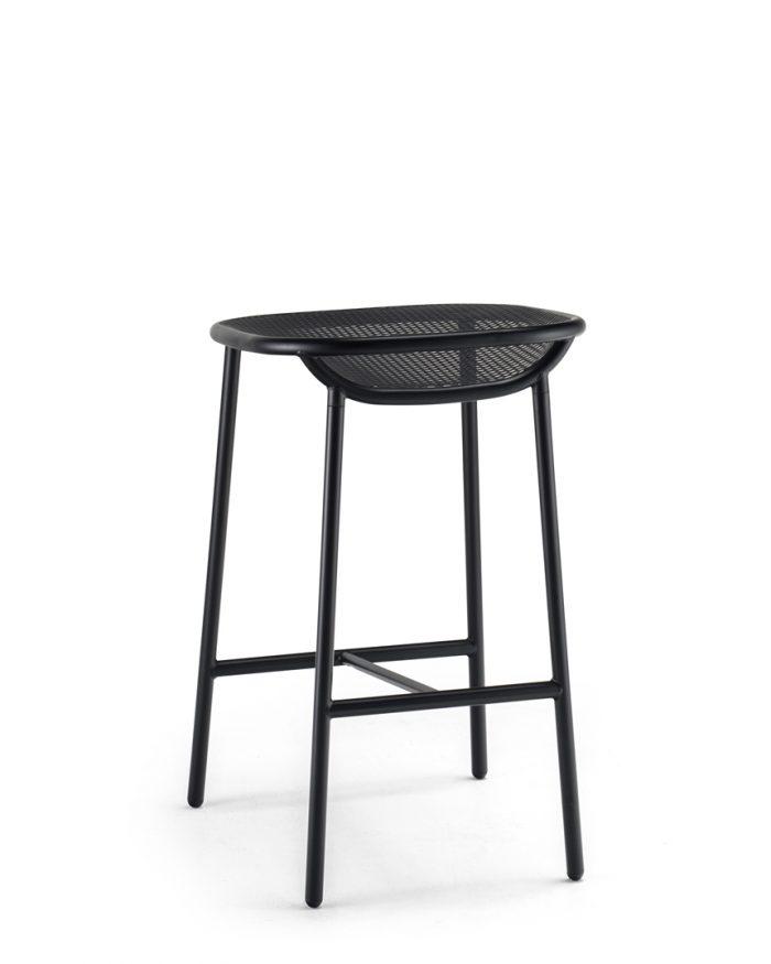 Grille OutdoorsIn (650mm Seat Height) Counter Stool – Matt Black Behind