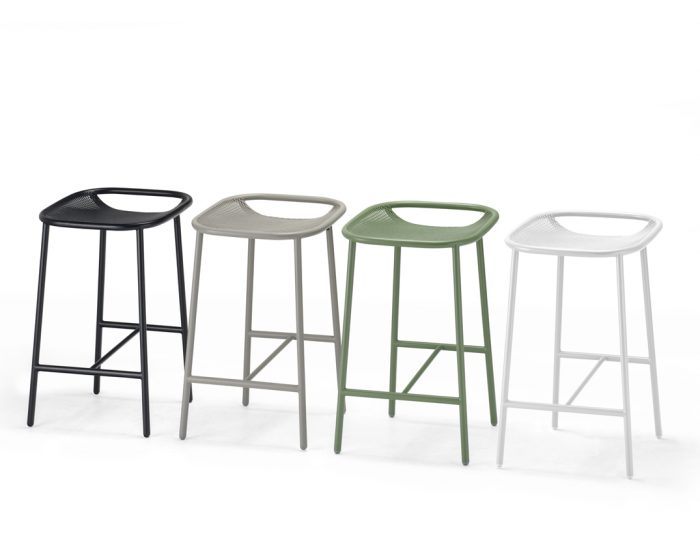 Contemporary Grille Outdoor Counter Stool Designed By