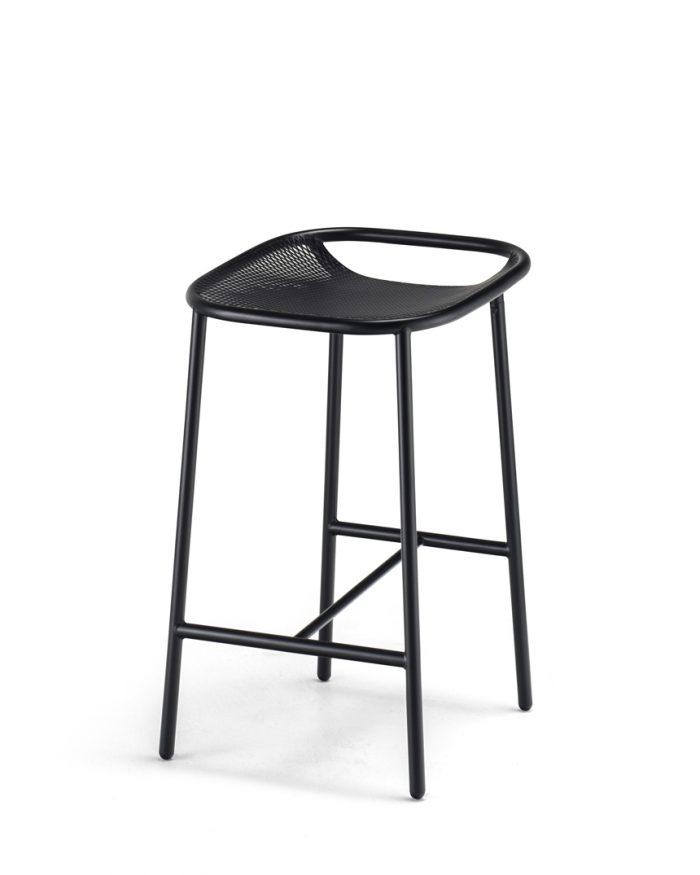 Grille OutdoorsIn (650mm Seat Height) Counter Stool – Matt Black angle