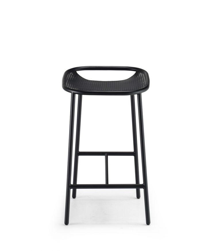 Grille OutdoorsIn (650mm Seat Height) Counter Stool - Matt Black front
