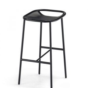 Grille OutdoorsIn (750mm Seat Height) Bar Stool – Matt Black angle