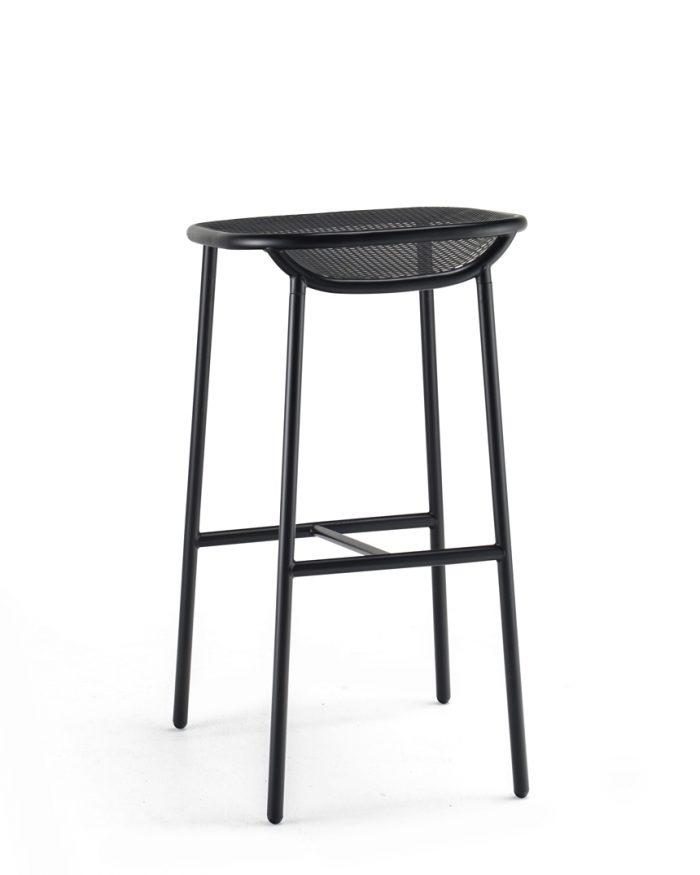 Grille OutdoorsIn (750mm Seat Height) Bar Stool – Matt Black behind