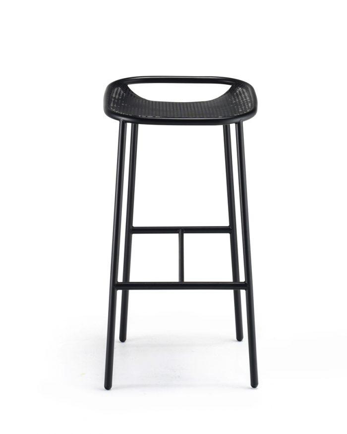 Grille OutdoorsIn (750mm Seat Height) Bar Stool - Matt Black front